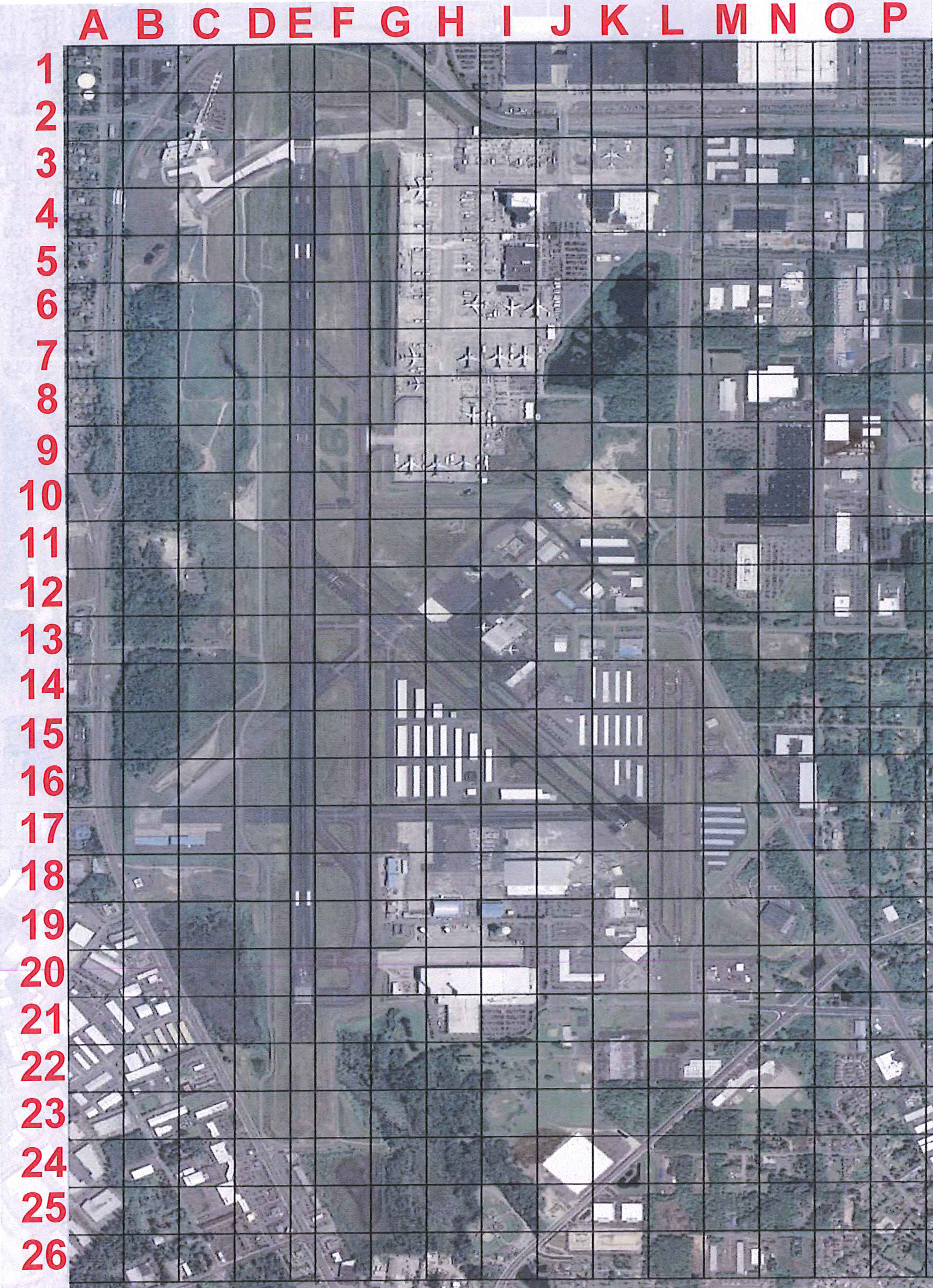 Airport Grid Map